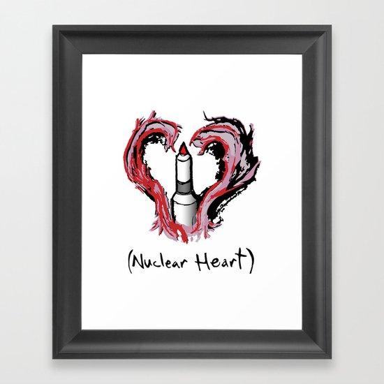 Nuclear Heart Framed Art Print