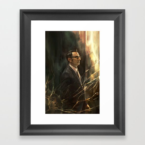 The Abyss Gazes Back Framed Art Print