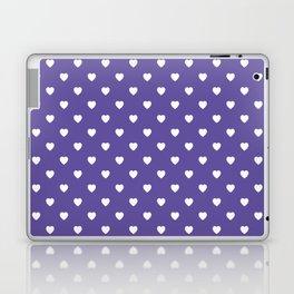 Ultra Violet Hearts Pattern Laptop & iPad Skin