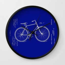 Vintage Bicycle Patent Blueprint Wall Clock