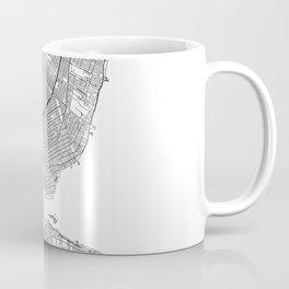 Detroit White Map Coffee Mug
