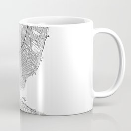 Detroit White Map Coffee Mug