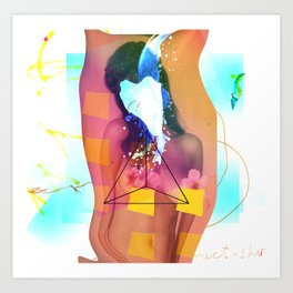 Woman in Summer Art Print
