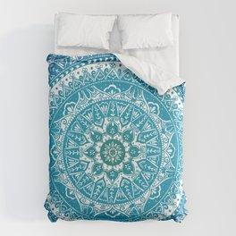 Aquamarine Mandala Pattern Comforters