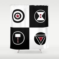 avenger Shower Curtains featuring Avenger by ArikaDoe