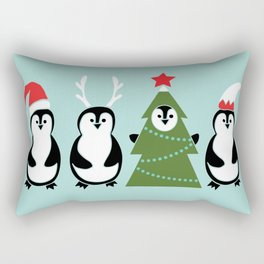 Penguin Party Rectangular Pillow