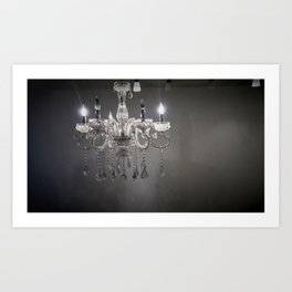 chandelier in NYC Art Print