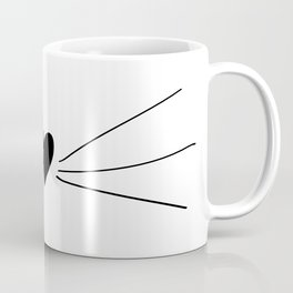 Cat Heart Nose & Whiskers Coffee Mug