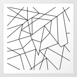 Simple Modern Black and White Geometric Pattern Art Print