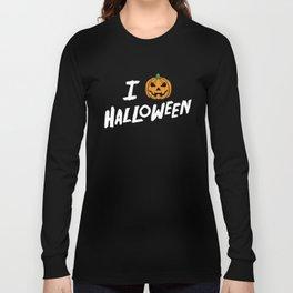 October 31st Fall Autumn Fun I Love Halloween Jack O'Lantern Long Sleeve T-shirt