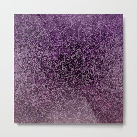 Mesh polygonal purple and pink Metal Print