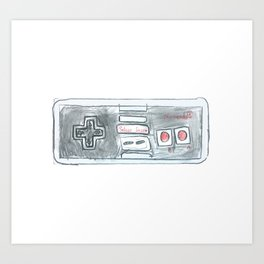 Old School Controller 01 Art Print