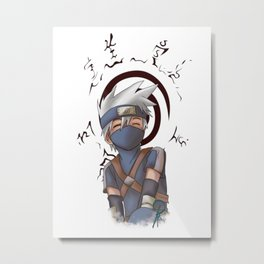 Young Kakashi and Seal Metal Print