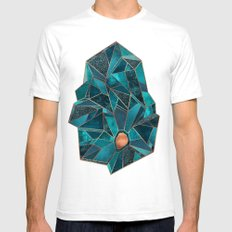 Precious / 1 SMALL White Mens Fitted Tee