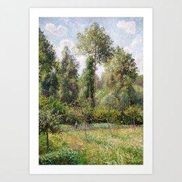 Camille Pissarro Poplars, Éragny Art Print