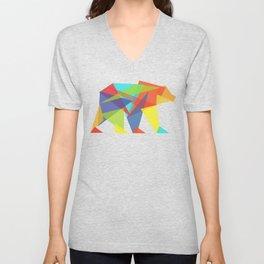 Fractal Geometric bear Unisex V-Neck