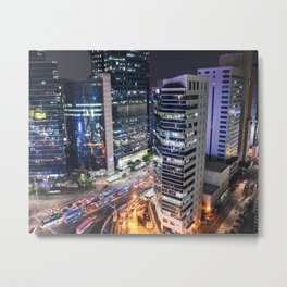 The Streets of Gangnam from Above Metal Print