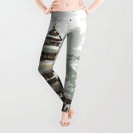 Himalayan Temple in Nepal Leggings