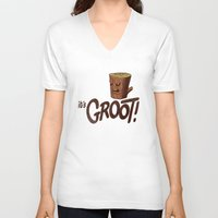 groot V-neck T-shirts featuring It's Groot by Gimetzco's Damaged Goods