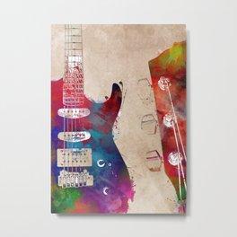 Guitar art 22 #guitar #music Metal Print
