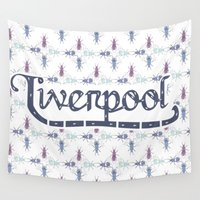 liverpool Wall Tapestries featuring Liverpool  by Cory Wilcox