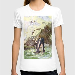 """""""The Marsh King's Daughter"""" Fairy Art by Anne Anderson T-shirt"""