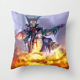 Goblin Rocketeer Throw Pillow