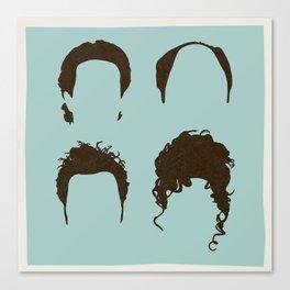 Seinfeld Hair Square Canvas Print