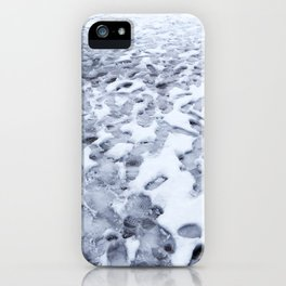 Footprints in the Melting Snow at Whistler iPhone Case