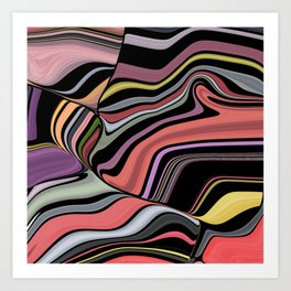 ROMA - bright bold abstract colours with black Art Print