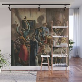 Classical African American Landscape 'Oh, Lord Jehovah, in Heaven' by Charles Alston Wall Mural