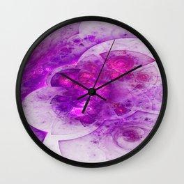 Crystal Gazing Flame Fractal Wall Clock