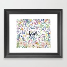 Love flowers Framed Art Print