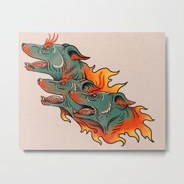 Cerberus Tattoo Metal Print