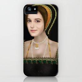 Anne Boleyn digital painting iPhone Case