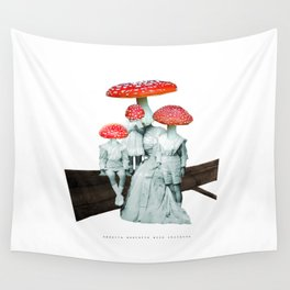 amanita muscaria with children Wall Tapestry