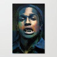 asap rocky Canvas Prints featuring Asap, long live Rocky by Michaëlis Moshe