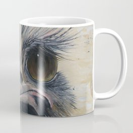Ostrich, Ostrich Painting, by Faye Coffee Mug