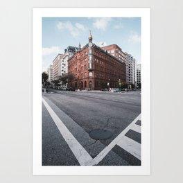 Street view Boston Art Print