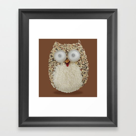 Specs, The Grainy Owl! Framed Art Print