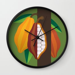 Cacao Plant Wall Clock