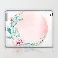 Desert Rose Gold Cactus Sun Laptop & iPad Skin