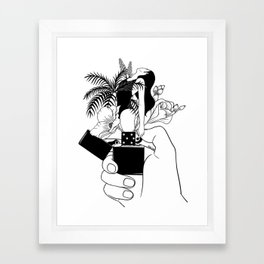 Light My Fire Framed Art Print