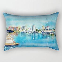 A Coastal View of Long Beach Rectangular Pillow