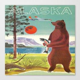 Alaska Vintage Travel Poster Canvas Print