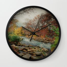 The Guadalupe River Wall Clock