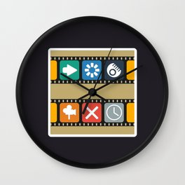 Illustrations icons sets with new modern flat design Wall Clock