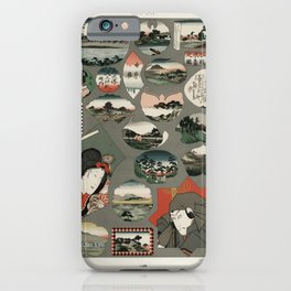 Japan pattern from Lornement Polychrome (1888) by Albert Racinet (1825-1893) iPhone Case