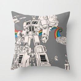 Childhood Friends Throw Pillow