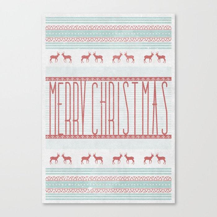 """merry""  Canvas Print"
